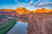 Colorado River at the Gooseneck, Utah,  Canyonlands National Prk beyond, Shafer Road, Meander Canyon of the Colorado River