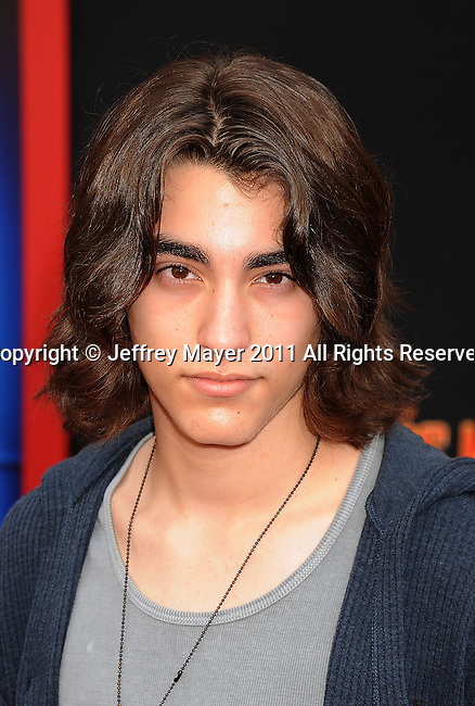 "HOLLYWOOD, CA - MARCH 06: Blake Michael arrives at ""Mars Needs Moms 3D"" Los Angeles Premiere at the El Capitan Theatre on March 6, 2011 in Hollywood, California"