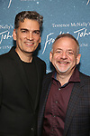 """Louis Mirabal and Marc Shaiman attend The """"Frankie and Johnny in the Clair de Lune"""" - Opening Night Arrivals at the Broadhurst Theatre on May 29, 2019  in New York City."""
