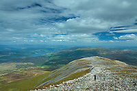Loch Tummel from the summit of Schiehallion, Perthshire