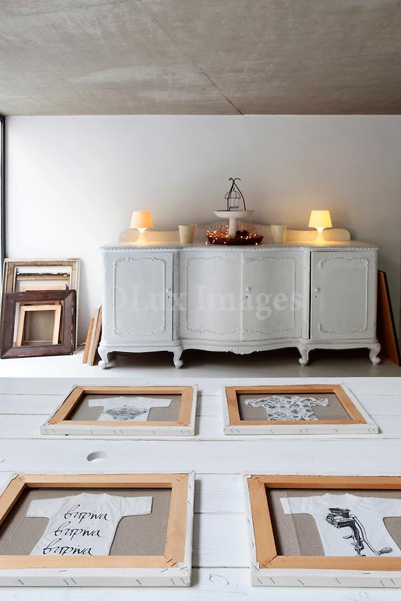 romantic white cabinet
