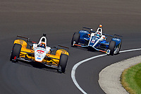 Verizon IndyCar Series<br /> Indianapolis 500 Carb Day<br /> Indianapolis Motor Speedway, Indianapolis, IN USA<br /> Friday 26 May 2017<br /> Oriol Servia, Rahal Letterman Lanigan Racing Honda, Max Chilton, Chip Ganassi Racing Teams Honda<br /> World Copyright: F. Peirce Williams