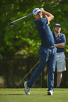 Justin Rose (GBR) watches his tee shot on 2 during round 3 of the Houston Open, Golf Club of Houston, Houston, Texas. 3/31/2018.<br /> Picture: Golffile | Ken Murray<br /> <br /> <br /> All photo usage must carry mandatory copyright credit (&copy; Golffile | Ken Murray)