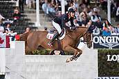 28th September 2017, Real Club de Polo de Barcelona, Barcelona, Spain; Longines FEI Nations Cup, Jumping Final; Kevin STAUT (FRA) riding Reveur de Hurtebise Hdc during the first round of the Nations Cup
