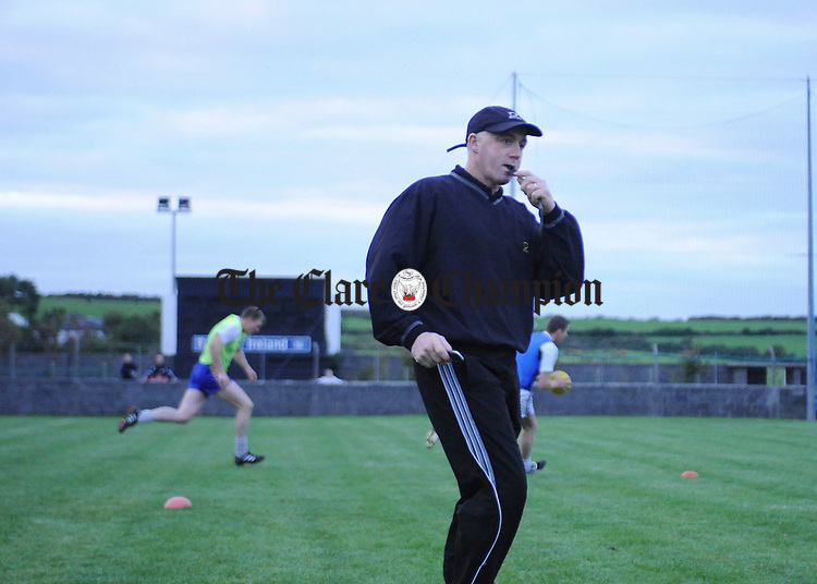 Kieran O' Mahoney at a recent training session in Doonbeg. Photograph by Declan Monaghan