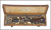 BNPS.co.uk (01202 558833)<br /> Pic: Bonhams/BNPS<br /> <br /> 'Mrs Brown's' Christmas gift to her loyal manservant revealed.<br /> <br /> An antique rifle that was a gift from Queen Victoria to a manservant who was rumoured to have been her lover has emerged for sale for &pound;40,000.<br /> <br /> The stoic monarch turned to trusted attendant John Brown for counsel after the death of her husband, Prince Albert in 1861.<br /> <br /> Their friendship became so close that it was suggested they were romantically involved.<br /> <br /> At Christmas 1873 she gave keen huntsman Brown a brand new .450 double-barrelled hammer rifle made by Alexander Henry in Edinburgh.<br /> <br /> The gun is being sold by Bonhams in London on May 12.