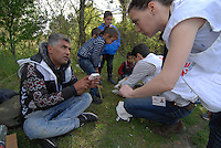 Subotica / Serbia  130416<br /> MSF medical team assists refugees in the woods that bring to the border with Hungary.<br /> Photo Livio Senigalliesi