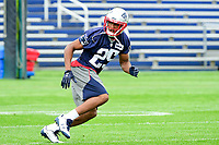 June 7, 2017: New England Patriots defensive back Eric Rowe (25) works on a drill at the New England Patriots mini camp held on the practice field at Gillette Stadium, in Foxborough, Massachusetts. Eric Canha/CSM