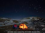 John and Beth camping atop Loveland Pass, Colorado.