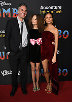 11 March 2019 - Hollywood, California - Ol Parker, Nico Paker, Thandie Newton. &quot;Dumbo&quot; Los Angeles Premiere held at Ray Dolby Ballroom. Photo <br /> CAP/ADM/BT<br /> &copy;BT/ADM/Capital Pictures