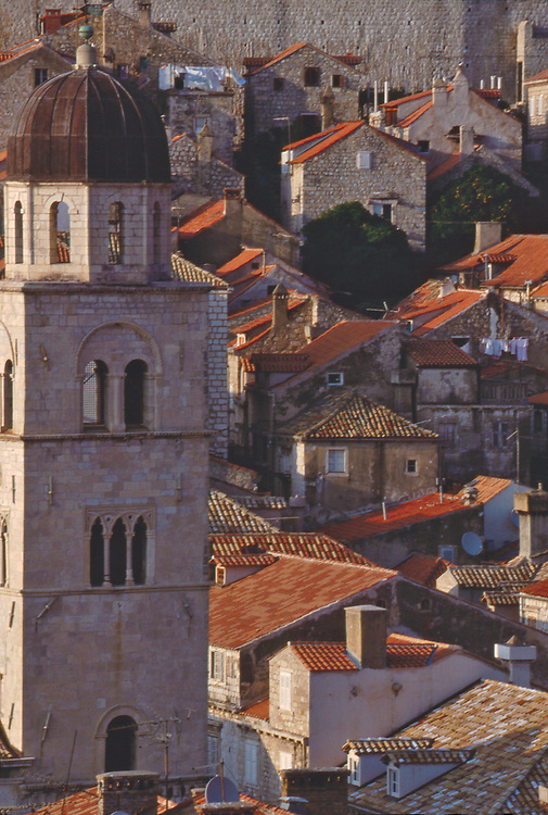 Croatia, Dubrovnik, Venetian architecture, Clay tiled roofs, UNESCO World Heritage Site, Adriatic Sea, Dalmatian Coast, Europe, .