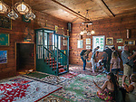 Drewniany meczet muzułmański w Kruszynianach - wnętrze, Polska<br /> Wooden Muslim Mosque - inside, Kruszyniany, Poland