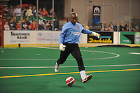 In their season home opener the Baltimore Blast defeated the Chicago Riot 10 - 6.