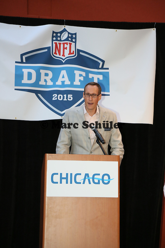 Chris Hibbs (VP Sales and Marketing Chicago Bears) - Draft Pressekonferenz, Sheraton Downtown Phoenix Hotel