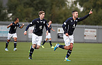 Ryan Conroy celebrates after scoring the second goal for Dundee