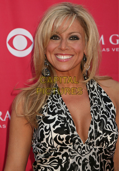 KRISTINA CORNELL.42nd Annual Academy Of Country Music Awards held at the MGM Grand Garden Arena, Las Vegas, Nevada, USA..May 15th, 2007.half length black white pattern monochrome .CAP/ADM/BP.©Byron Purvis/AdMedia/Capital Pictures