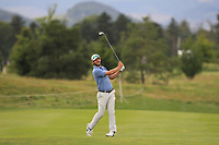 James Heath (ENG) on the 5th fairway during Round 1 of the D+D Real Czech Masters at the Albatross Golf Resort, Prague, Czech Rep. 31/08/2017<br /> Picture: Golffile | Thos Caffrey<br /> <br /> <br /> All photo usage must carry mandatory copyright credit     (&copy; Golffile | Thos Caffrey)