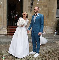 Mariage civil de Julie Taton et Harold Van Der Straten, à l'hôtel de ville de Bruxelles