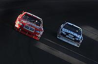 Mar 2, 2008; Las Vegas, NV, USA; NASCAR Sprint Cup Series driver Kasey Kahne leads Dale Earnhardt Jr during the UAW Dodge 400 at Las Vegas Motor Speedway. Mandatory Credit: Mark J. Rebilas-US PRESSWIRE