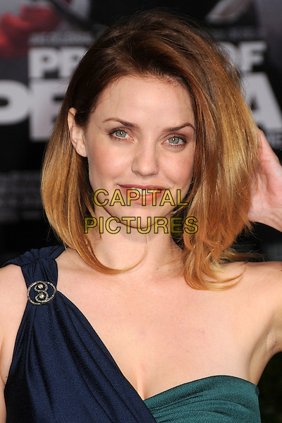 "KELLI GARNER .""Prince Of Persia: The Sands Of Time"" Los Angeles Premiere held at Grauman's Chinese Theatre, Hollywood, California, USA..May 17th, 2010.headshot portrait green black one shoulder strapless .CAP/ADM/BP.©Byron Purvis/AdMedia/Capital Pictures."