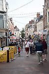 People in town centre of Weymouth, Dorset, England, UK