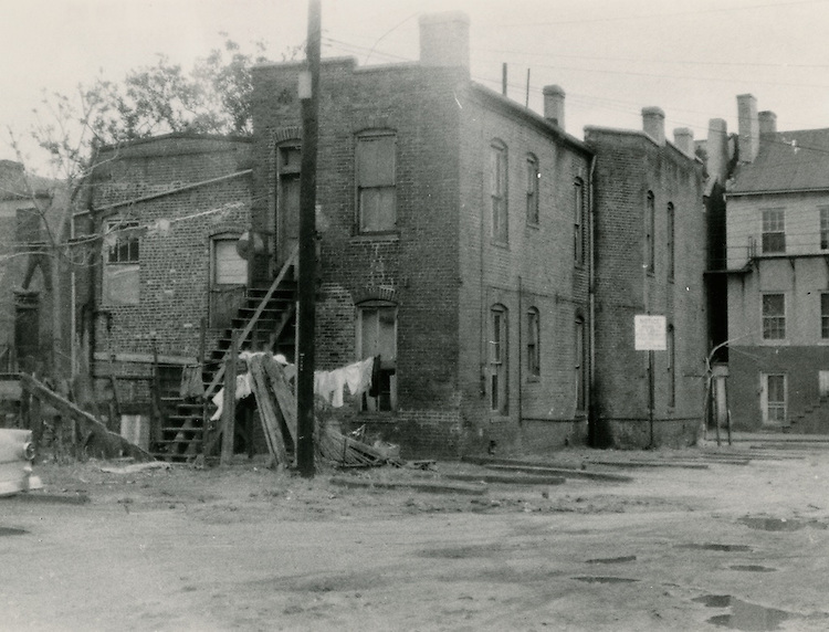 1957 April 06..Redevelopment..Downtown South (R-9)..Slum Conditions.Civic Center Site...NEG#.NRHA#869-A..