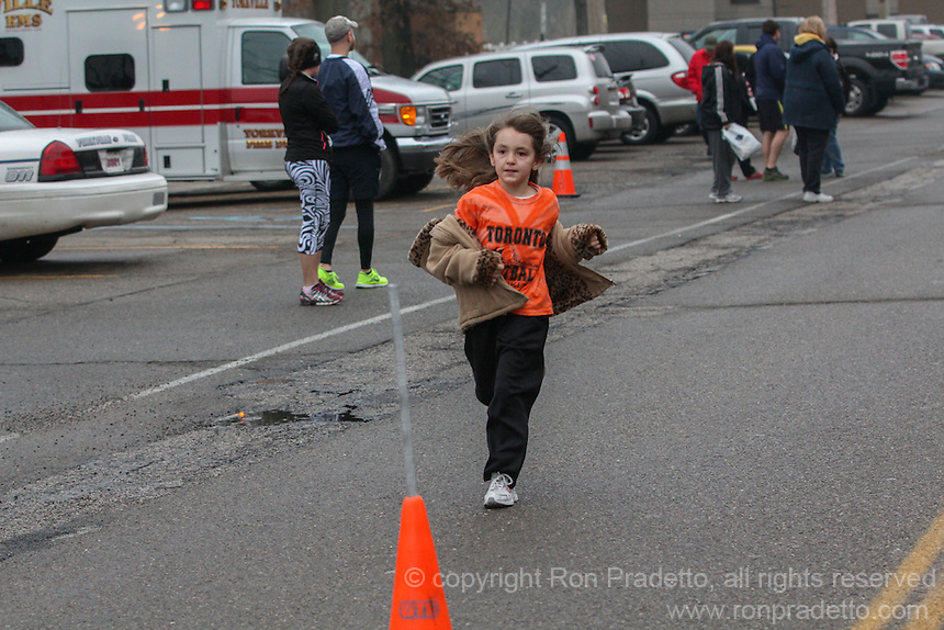Relay for Life Spring 5k held on March 16, 2013 at Yorkville, Ohio.