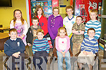 MATHS FUN: Having a great time at Family Math's Fun night at the South campus Tralee IT on Thursday seated l-r: Danny Sheehy, Brian and Me?abh McElligott and Michae?l Dolan. Back l-r: Bla?thnaid O'Connell, Tomas and Sadb Fitzpatrick, Aoife and Karl Sheehy, Seamus Fitzpatrick and Jack Dolan.