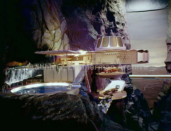 "Tableau from General Motors ""Futurama"" ride at the 1964-65 New York World's Fair. Photo by John G. Zimmerman"