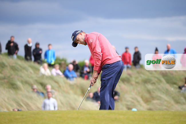 Russell Knox (SCO) during Round One of the 2016 Aberdeen Asset Management Scottish Open, played at Castle Stuart Golf Club, Inverness, Scotland. 07/07/2016. Picture: David Lloyd | Golffile.<br /> <br /> All photos usage must carry mandatory copyright credit (&copy; Golffile | David Lloyd)
