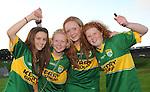 Kerry football fans Maeve Scanlon, Niamh Stack, Sarah Jane Carmody and Rachel Stack,  Ballybunion,  are looking forward to the All Ireland semi-final against Dublin on Sunday.  Picture: Eamonn Keogh (MacMonagle, Killarney)