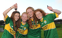 Kerry football fans Maeve Scanlon, Niamh Stack, Sarah Jane Carmody and Rachel Stack,  Ballybunion,  are looking forward to the All Ireland semi-final against Dublin on Sunday.  Picture: Eamonn Keogh (MacMonagle, Killarney)