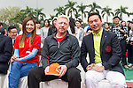 Tennis legend Boris Becker (center) and Mission Hills Vice Chairman Tenniel Chu (right) at the press conference for the opening of Boris Becker Tennis Academy at Mission Hills Resort on 19 March 2016, in Shenzhen, China. Photo by Lucas Schifres / Power Sport Images