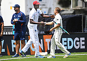 4th December 2017, Basin Reserve, Wellington, New Zealand; International Test Cricket, Day 4, New Zealand versus West Indies;  Jason Holder and Neil Wagner shake hands at the end of the match and victory over the West Indies on