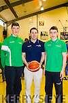 Rachel Ryan, Tralee, Niamh O&rsquo;Donnor Dingle and Kayla O&rsquo;Connor Castleisland of the Ireland Un 15 ladies basketball development squad who defeated Scotland <br /> in a three game International Series at the Oblate Hall, Dublin last weekend