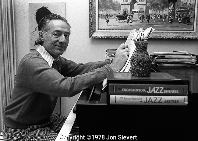 Leonard Feather, Nov 1977, Los Angeles<br />