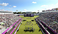 Olympics - London 2012 Olympic Games - Lord's Cricket Ground   - 29/7/12..Archery - Women's Team - General view of a match between India and Denmark..Mandatory Credit: Action Images / Matthew Childs..Livepic