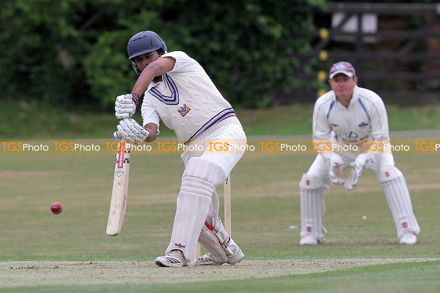 Neville Jacobs in batting action for Ilford - Woodford Wells CC (fielding) vs Ilford CC - Essex Cricket League - 28/05/11 - MANDATORY CREDIT: Gavin Ellis/TGSPHOTO - Self billing applies where appropriate - Tel: 0845 094 6026