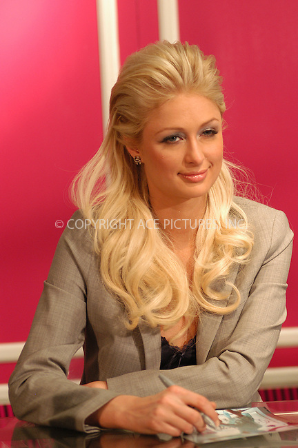 WWW.ACEPIXS.COM . . . . . ....NEW YORK, FEBRUARY 10, 2005....Paris Hilton at the launch of her new fragrance at Lord & Taylor.....Please byline: KRISTIN CALLAHAN - ACE PICTURES.. . . . . . ..Ace Pictures, Inc:  ..Philip Vaughan (646) 769-0430..e-mail: info@acepixs.com..web: http://www.acepixs.com