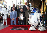 08 March 2018 - Hollywood, California - Councilmember Mitch O'Farrell, Harrison Ford, George Lucas, Mark Hamill, Leron Gubler. Mark Hamill Honored With Star On The Hollywood Walk Of Fame.  <br /> CAP/ADM/FS<br /> &copy;FS/ADM/Capital Pictures