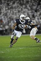 27 September 2008:  Penn State DE Aaron Maybin (59)..The Penn State Nittany Lions defeated the Illinois Fighting Illini 38-24 September 27, 2008 at Beaver Stadium in State College, PA..