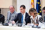 King Felipe VI of Spain and King Juan Carlos during the COTEC Board meeting at El Pardo Palace in Madrid. June 08. 2016. (ALTERPHOTOS/Borja B.Hojas)