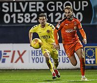 Fleetwood Town's Jason Holt competing with Luton Town's Andrew&nbsp;Shinnie<br /> <br /> Photographer Andrew Kearns/CameraSport<br /> <br /> The EFL Sky Bet League One - Luton Town v Fleetwood Town - Saturday 8th December 2018 - Kenilworth Road - Luton<br /> <br /> World Copyright &copy; 2018 CameraSport. All rights reserved. 43 Linden Ave. Countesthorpe. Leicester. England. LE8 5PG - Tel: +44 (0) 116 277 4147 - admin@camerasport.com - www.camerasport.com
