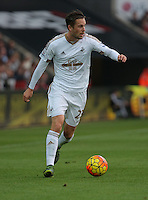 Gylfi Sigurdsson of Swansea during the Barclays Premier League match between Swansea City and Arsenal at the Liberty Stadium, Swansea on October 31st 2015