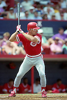 Cincinnati Reds Chris Sabo (17) during Spring Training 1993 at Chain of Lakes Park in Winter Haven, Florida.  (MJA/Four Seam Images)