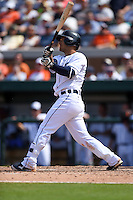 Detroit Tigers shortstop Jose Iglesias (1) during a Spring Training game against the Miami Marlins on March 25, 2015 at Joker Marchant Stadium in Lakeland, Florida.  Detroit defeated Miami 8-4.  (Mike Janes/Four Seam Images)