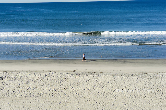 Carlsbad beachfront on sunny morning