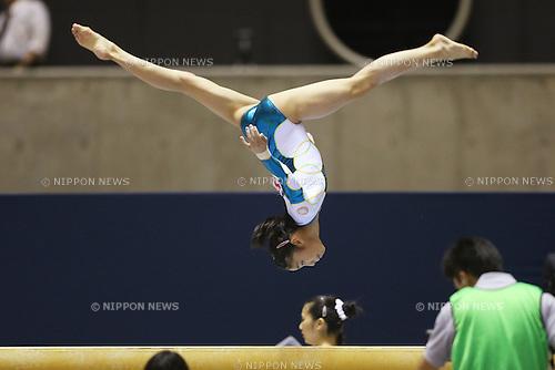 Yuki Uchiyama (JPN), .May 12, 2013 - Artistic gymnastics : .The 67th All Japan Gymnastics Championship, Women's Individual All-Around 2nd Day .at Yoyogi 1st Gymnasium, Tokyo, Japan. .(Photo by Daiju Kitamura/AFLO SPORT)