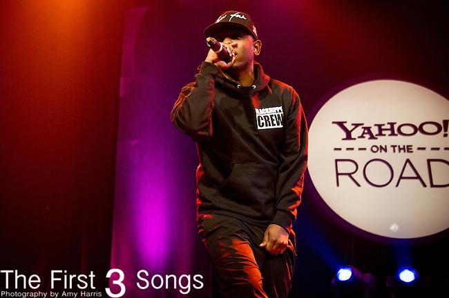 Kendrick Lamar performs during the Yahoo! On The Road at Bogart's in Cincinnati, Ohio.