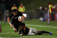Rieko Ioane in action during the Rugby Championship match between the New Zealand All Blacks and South Africa Springboks at QBE Stadium in Albany, Auckland, New Zealand on Saturday, 16 September 2017. Photo: Shane Wenzlick / lintottphoto.co.nz